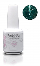 NIEUW! White Angel Diamond Dark Turquoise Gel Polish 15ml