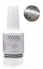 White Angel Diamond Silver Gel Polish 15ml