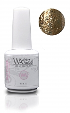 White Angel Diamond Gold Gel Polish 15ml