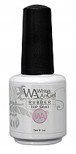 NIEUW! White Angel RUBBER Top Coat 15ml (no wipe)