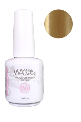 White Angel Nebular Gold Chrome Gel Polish 15ml #05